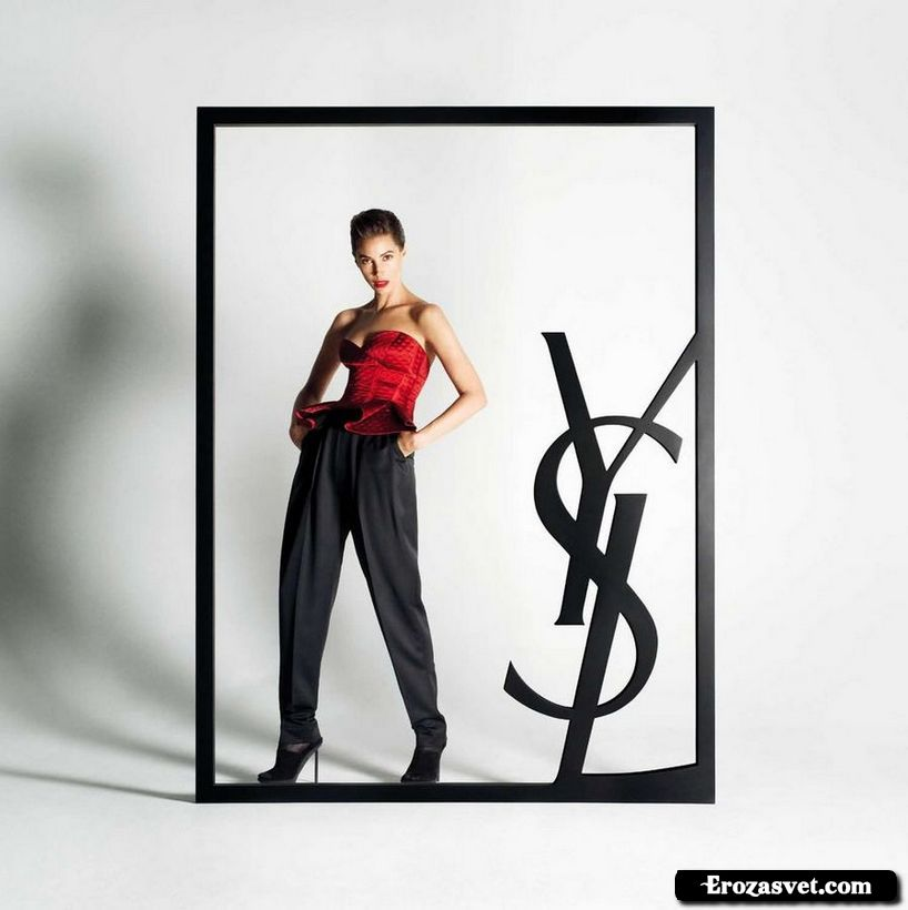 Кристи Тарлингтон (Christy Turlington) на эро фото для Yves Saint Laurent (осень-зима 2009-2010)