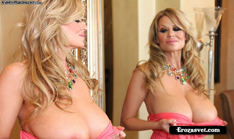Симпатичная девушка Kelly Madison That Pink Dress эротик pictures