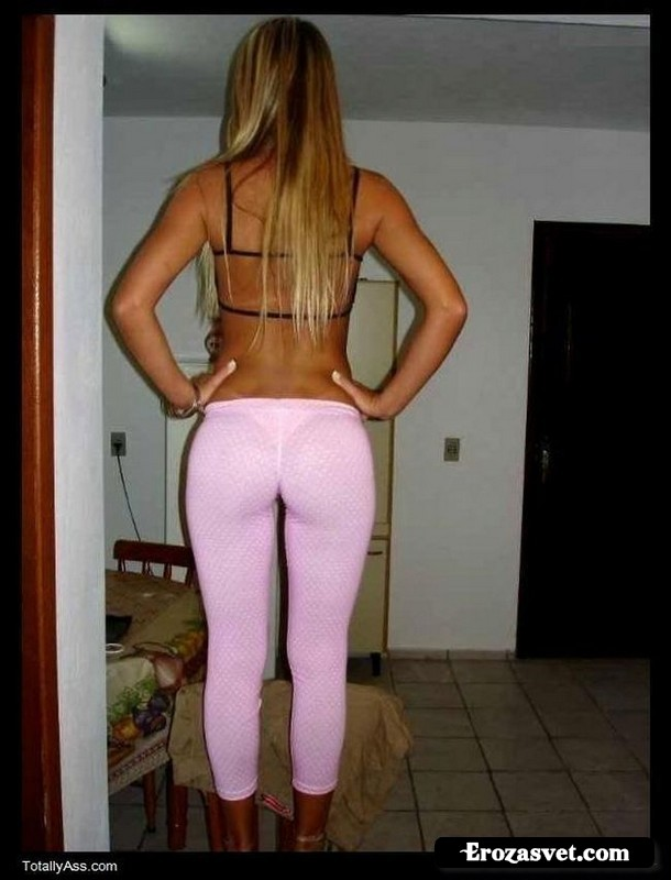 passionate wife wearing pink leggings gets fucked in the kitchen  144640